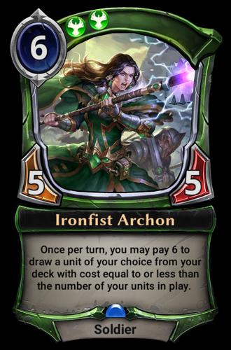Ironfist Archon card