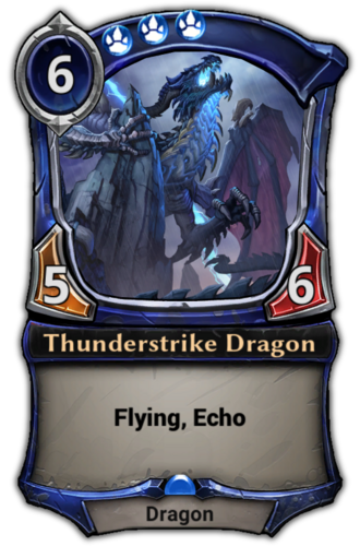 Thunderstrike Dragon card