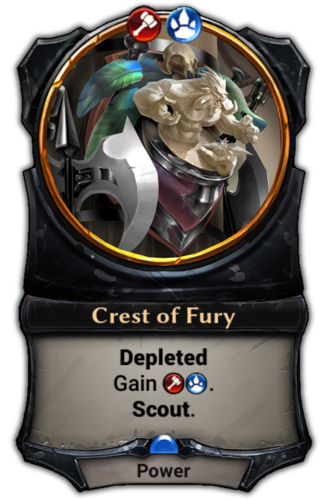 Crest of Fury card