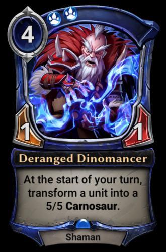 Deranged Dinomancer card