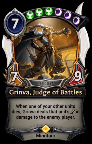 Grinva, Judge of Battles card