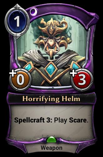 Horrifying Helm card