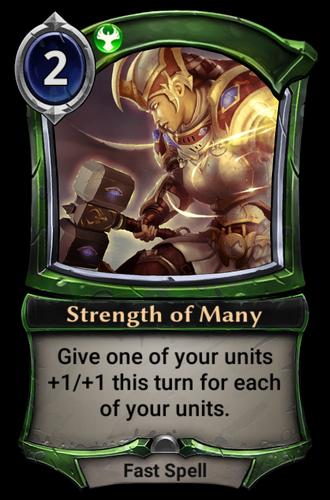 Strength of Many card