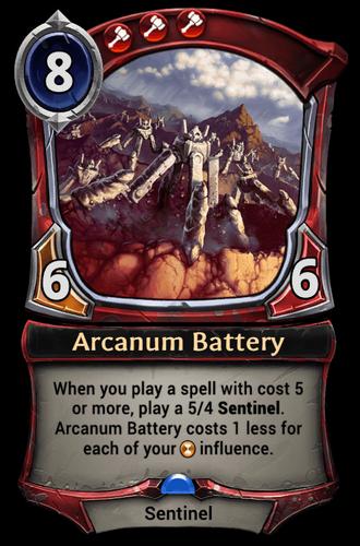 Arcanum Battery card
