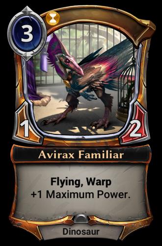 Avirax Familiar card