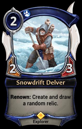Snowdrift Delver card