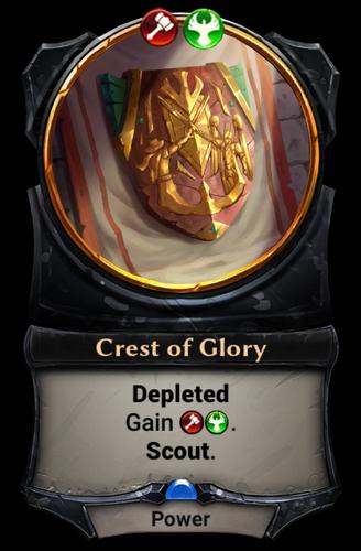 Crest of Glory card