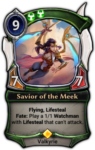 Savior of the Meek card