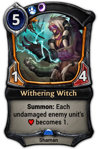 Withering Witch card
