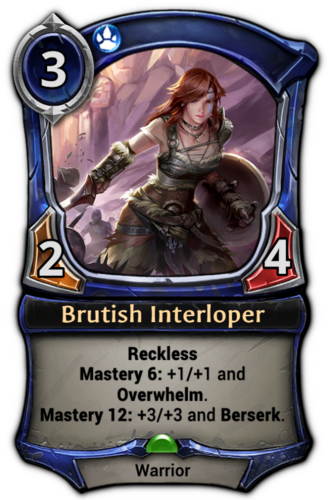 Brutish Interloper card