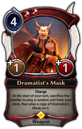 Dramatist's Mask card