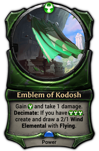 Emblem of Kodosh card