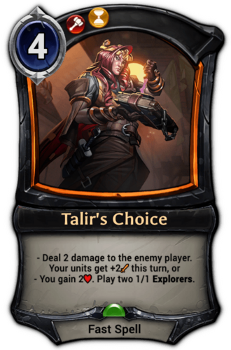 Talir's Choice card