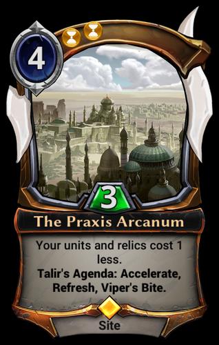 The Praxis Arcanum card
