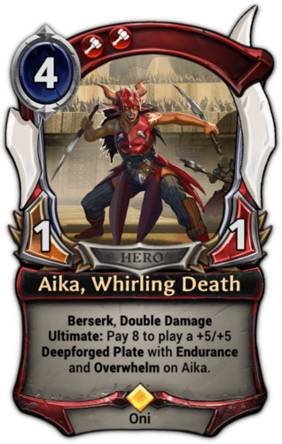 Aika, Whirling Death card
