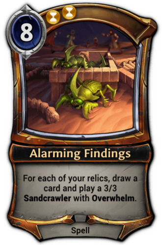 Alarming Findings card
