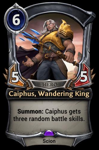 Caiphus, Wandering King card