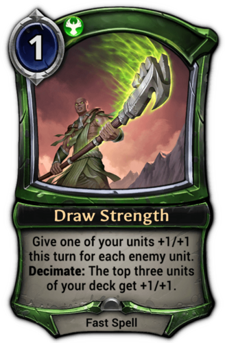 Draw Strength card