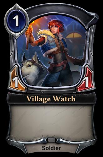 Village Watch card