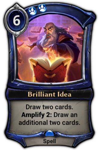 Brilliant Idea card