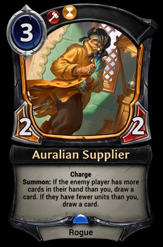 Auralian Supplier card
