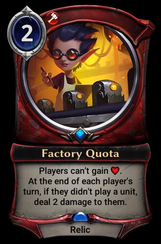 Factory Quota card