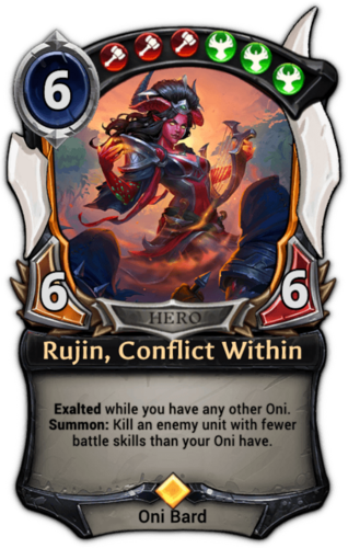 Rujin, Conflict Within card