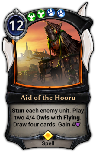 Aid of the Hooru card