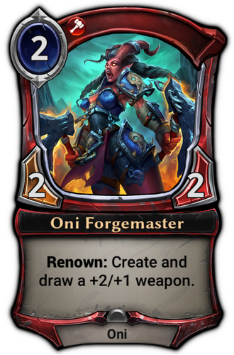 Oni Forgemaster card