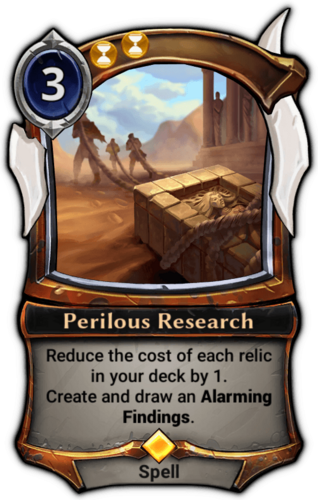 Perilous Research card