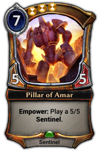 Pillar of Amar card