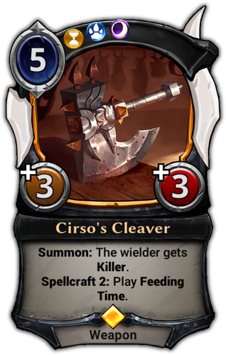 Cirso's Cleaver card