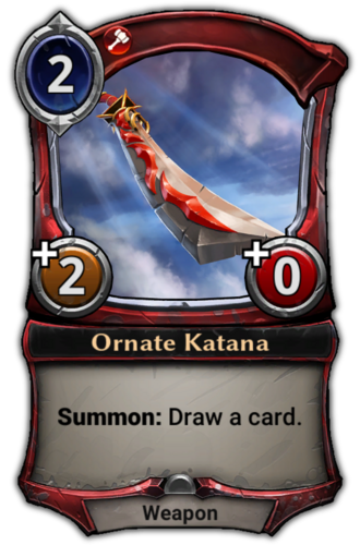Ornate Katana card
