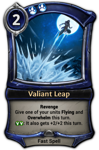 Valiant Leap card
