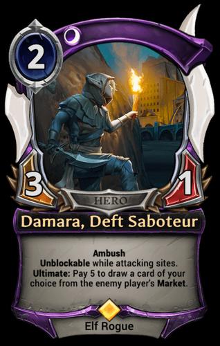 Damara, Deft Saboteur card