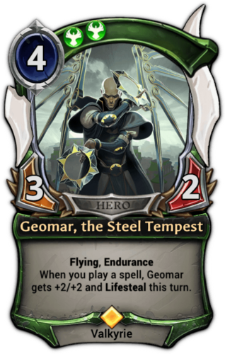 Geomar, the Steel Tempest card