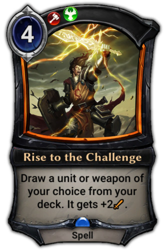 Rise to the Challenge card