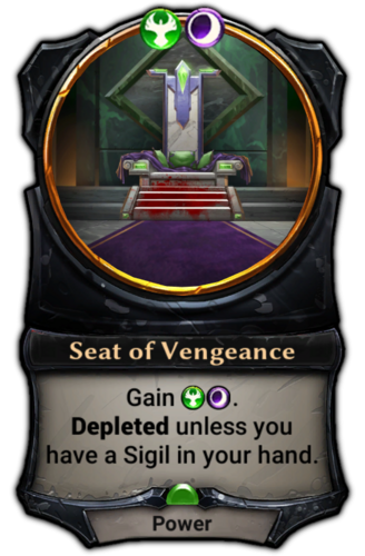Seat of Vengeance card