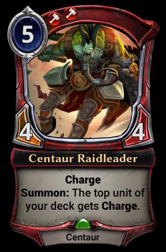 Centaur Raidleader card
