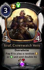 Siraf, Crownwatch Hero