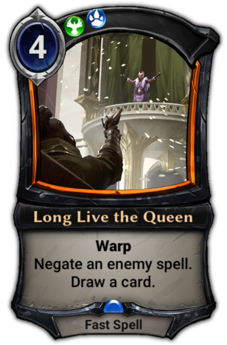 Long Live the Queen card