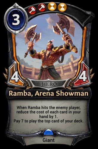 Ramba, Arena Showman card
