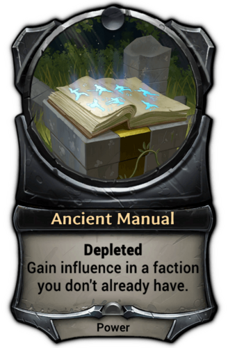Ancient Manual card