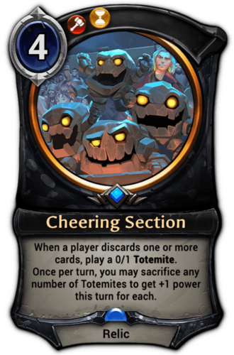 Cheering Section card