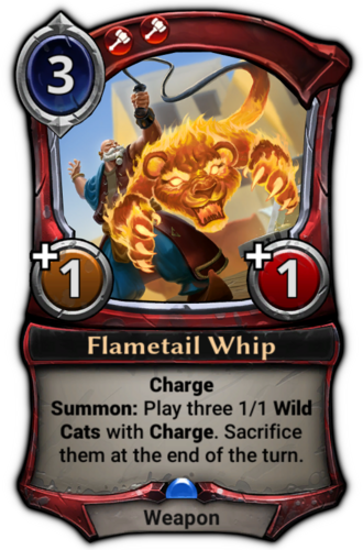 Flametail Whip card