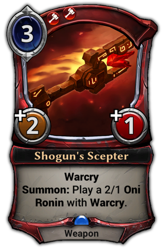 Shogun's Scepter card