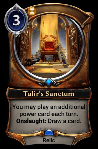 Talir's Sanctum card