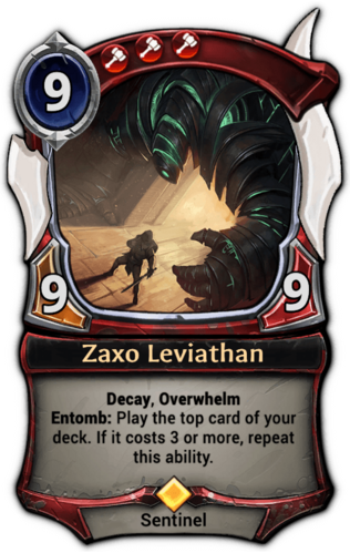 Zaxo Leviathan card