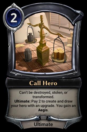 Call Hero card