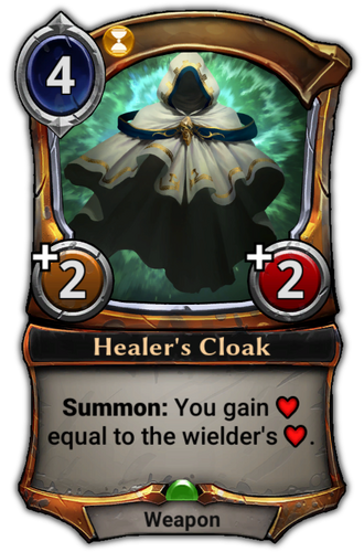 Healer's Cloak card